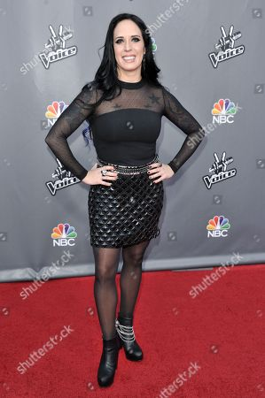 """Kat Perkins seen at """"The Voice"""" Top 12 Red Carpet Event on in Universal City, Calif"""
