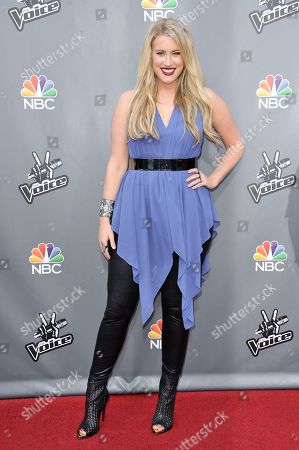 """Stock Photo of Dani Moz seen at """"The Voice"""" Top 12 Red Carpet Event on in Universal City, Calif"""