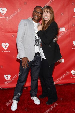 Tommy Davidson and Mackenzie Phillips attend the 10th annual MusiCares MAP Fund Benefit Concert at Club Nokia on in Los Angeles