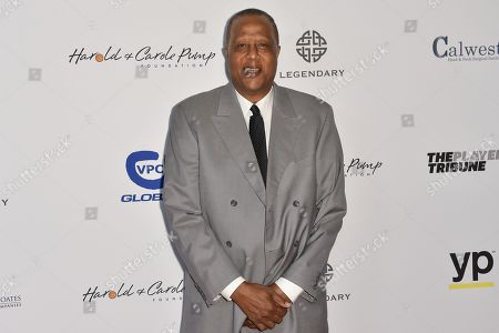 Stock Image of Jamaal Wilkes arrives at the 15th Annual Harold and Carole Pump Foundation Gala held at the Hyatt Regency Century Plaza,, in Los Angeles
