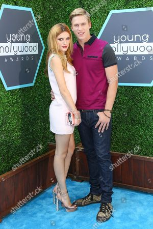 Stock Picture of Bella Thorne and boyfriend Tristan Klier seen at the 16th Annual Young Hollywood Awards at The Wiltern on in Los Angeles, California