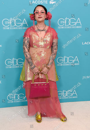 Stock Photo of Julie Vogel arrives at the 17th Costume Designers Guild Awards at the Beverly Hilton Hotel, in Beverly Hills, Calif