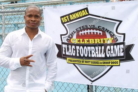 Actor Sam Jones III attends the 1st Annual Athletes vs. Cancer Celebrity Flag Football game at the Palisades High School on in Pacific Palisades, Calif