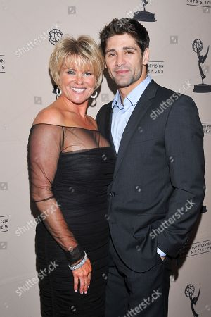 BEVERLY HILLS, CA - JUNE 16: Actors Judi Evans and Bren Foster attend a cocktail party presented by the Academy of Television Arts & Sciences' Daytime Programming Peer Group, in celebration of the 2011 Daytime Emmy Awards Nominees at the SLS Hotel at Beverly Hills on in Beverly Hills, California