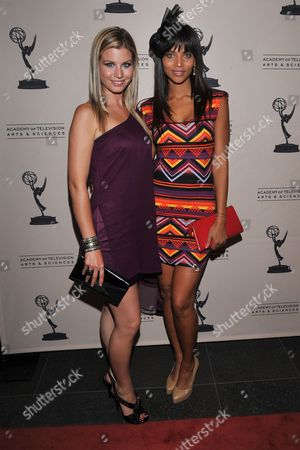 Stock Picture of BEVERLY HILLS, CA - JUNE 16: Actors Stephanie Gatschet and Denise Vasi attend a cocktail party presented by the Academy of Television Arts & Sciences' Daytime Programming Peer Group, in celebration of the 2011 Daytime Emmy Awards Nominees at the SLS Hotel at Beverly Hills on in Beverly Hills, California