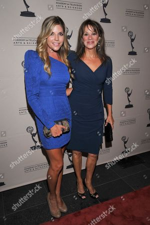 BEVERLY HILLS, CA - JUNE 16: Actors Andrea Bogart (L) and Nancy Lee Grahn attend a cocktail party presented by the Academy of Television Arts & Sciences' Daytime Programming Peer Group, in celebration of the 2011 Daytime Emmy Awards Nominees at the SLS Hotel at Beverly Hills on in Beverly Hills, California