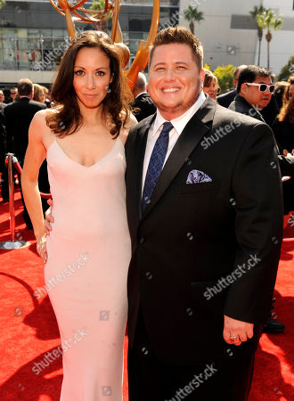 LOS ANGELES, CA - SEPTEMBER 10: (L-R) Chaz Bono and Jennifer Elia attends the Academy of Television Arts & Sciences 2011 Primetime Creative Arts Emmy Awards at the Nokia Theater L.A. Live on in Los Angeles, California