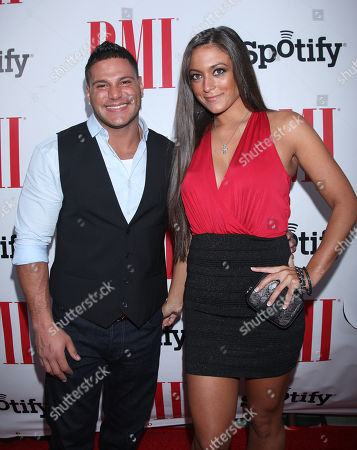 Ronnie Ortiz-Magro and Samantha Giancola arrive at the BMI Urban Awards honoring Mariah Carey held at the Saban theatre, in Beverly Hills, Calif