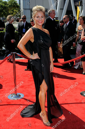 Stacey Tookey arrives at the 2012 Creative Arts Emmys at the Nokia Theatre, in Los Angeles