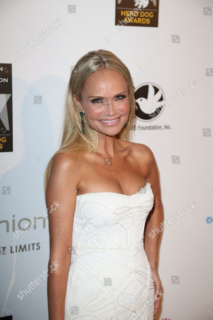 Actress Kristen Chenoweth arrives during 2012 American Humane Association Hero Dog Awards held at the Beverly Hilton Hotel, in Los Angeles, Calif