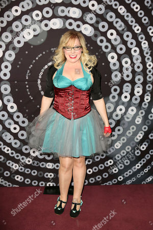 Stock Image of Actress Kristen Vangsness arrives during the 2012 LA Stage Alliance Ovation Awards ceremony held at the Los Angeles Theatre, in Los Angeles, Calif