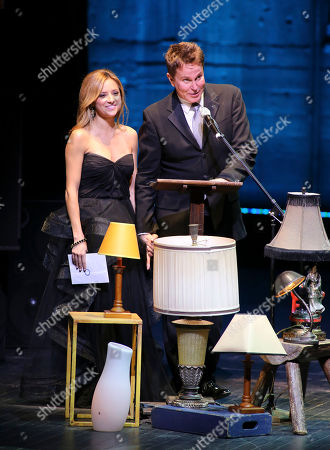 From left, actress Christine Lakin and Davis Gaines present during the 2012 LA Stage Alliance Ovation Awards ceremony held at the Los Angeles Theatre, in Los Angeles, Calif