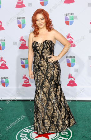 Stock Image of Marilyn Odessa arrives at the 13th Annual Latin Grammy Awards at Mandalay Bay, in Las Vegas