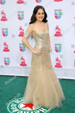 Zuria Vega arrives at the 13th Annual Latin Grammy Awards at Mandalay Bay, in Las Vegas