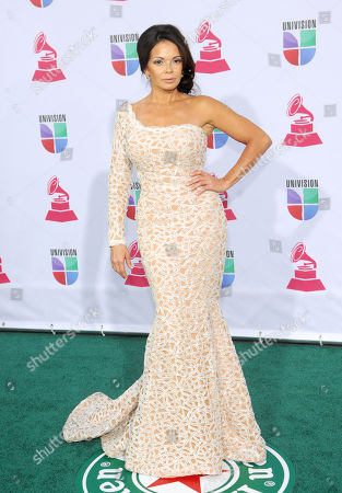 Julie Ferretti arrives at the 13th Annual Latin Grammy Awards at Mandalay Bay, in Las Vegas