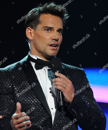 Host Cristian de la Fuente is seen on stage at the 13th Annual Latin Grammy Awards at Mandalay Bay, in Las Vegas