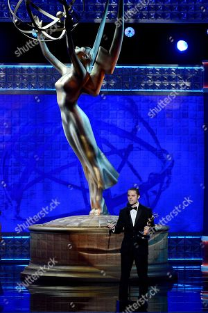SEPTEMBER 15: Joshua Bergasse accepts the award for Outstanding Choreography onstage at the Academy of Television Arts & Sciences 64th Primetime Creative Arts Emmy Awards at Nokia Theatre L.A. Live on in Los Angeles, California