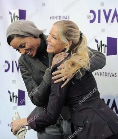 Nicole Mitchell Murphy, left, and Jessica Canseco arrive at VH1 Divas, at the Shrine Auditorium in Los Angeles