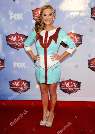 Ali Dee arrives at the American Country Awards at the Mandalay Bay Resort & Casino, in Las Vegas, Nev