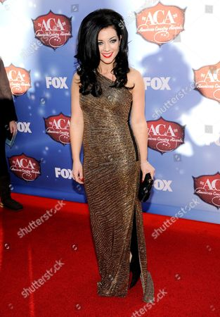 Stock Picture of Lyndsey Highlander arrives at the American Country Awards at the Mandalay Bay Resort & Casino, in Las Vegas, Nev
