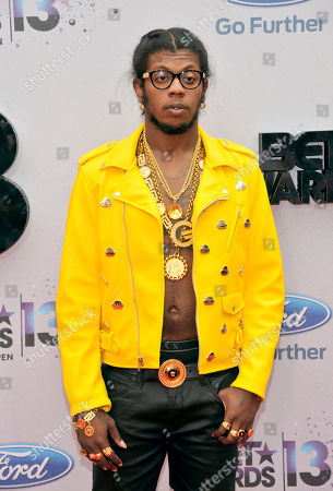 Trinidad James arrives at the BET Awards at the Nokia Theatre, in Los Angeles