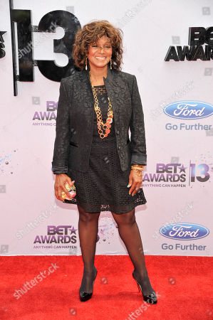 Rebbie Jackson arrives at the BET Awards at the Nokia Theatre, in Los Angeles