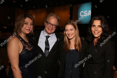 From left, Leah Perry, Jeff Perry, Zoe Perry and Linda Lowy pose during the Casting Society of America 29th Annual Artios Awards held at the Beverly Hilton Hotel, in Beverly Hills, Calif