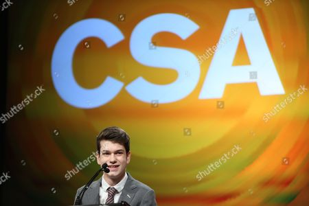 Actor Liam James presents during the Casting Society of America 29th Annual Artios Awards held at the Beverly Hilton Hotel, in Beverly Hills, Calif