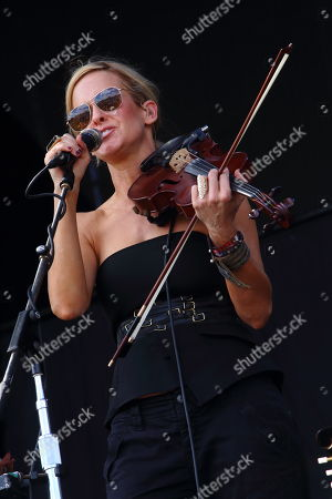 Martie Maguire with Courtyard Hounds performs on day 1 of the 2013 Austin City Limits Music Festival at Zilker Park on in Austin Texas