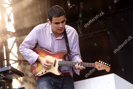 Rostam Batmanglij with Vampire Weekend performs on day 1 of the 2013 Austin City Limits Music Festival at Zilker Park on in Austin Texas