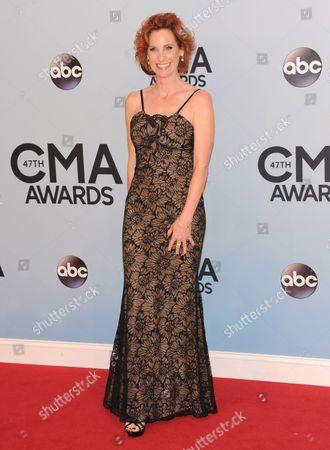 Judith Hoag arrives at the 47th annual CMA Awards at Bridgestone Arena, in Nashville, Tenn