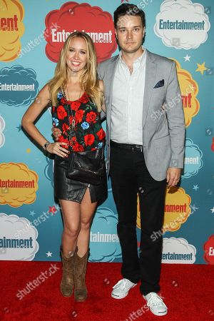 Actors Anna Camp and Michael McMillian arrive at the EW party on Day 4 of the 2013 Comic-Con International Convention on in San Diego