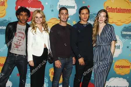 L-R) Actors Naveen Andrews, Emma Rigby, Michael Socha, Peter Gadiot and Sophie Lowe arrive at the EW party on Day 4 of the 2013 Comic-Con International Convention on in San Diego