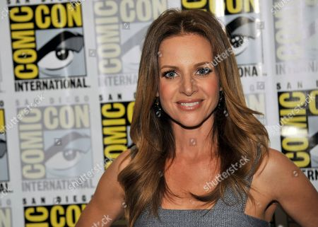 """Jessalyn Gilsig attends the """"Vikings"""" panel on Day 3 of Comic-Con International on in San Diego"""