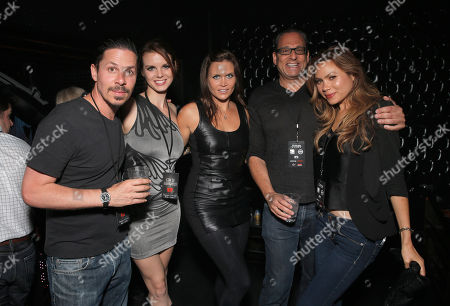 IMAGE DISTRIBUTED FOR CON OF DARKNESS - Roman Bruno, Catherine Annette, Ashley Noel, CEO Entertainment One Television John Morayniss and Jen Roa attend the Con of Darkness, on Friday, July 19th, 2013 in San Diego, California