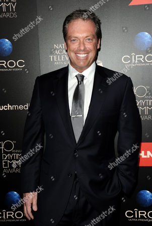 Game show host Todd Newton arrives at the 40th Annual Daytime Emmy Awards, in Beverly Hills, Calif