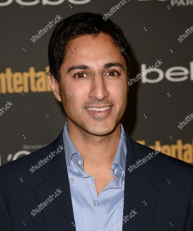 Actor Maulik Pancholy arrives at the 2013 Entertainment Weekly Pre-Emmy Party at Fig & Olive on in Los Angeles