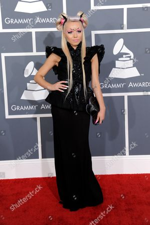 Kerli arrives at the 55th annual Grammy Awards, in Los Angeles