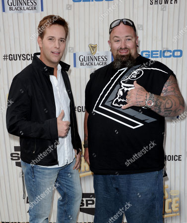 Allen Lee Haff, left, and Clinton 'Ton' Jones arrive at Spike TV's Guys Choice Awards at Sony Pictures Studios, in Culver City, Calif