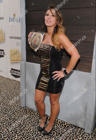 Mickie James arrives at Spike TV's Guys Choice Awards at Sony Pictures Studios, in Culver City, Calif