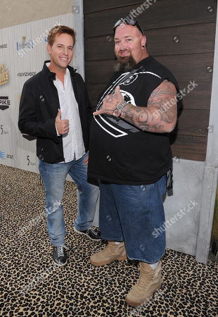 """Stock Picture of Allen Lee Haff, left, and Clinton """"Ton"""" Jones arrive at Spike TV's Guys Choice Awards at Sony Pictures Studios, in Culver City, Calif"""