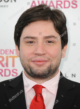 Stock Image of Director Jonathan Lisecki arrives at the Independent Spirit Awards, in Santa Monica, Calif