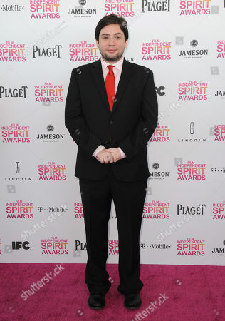 Stock Picture of Director Jonathan Lisecki arrives at the Independent Spirit Awards, in Santa Monica, Calif