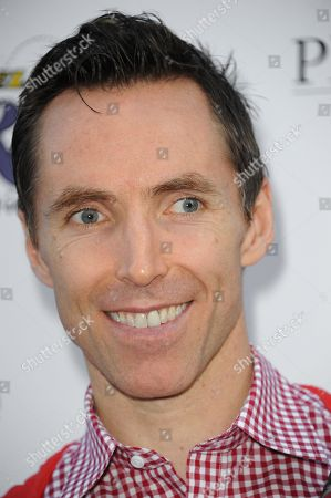Steve Nash arrives at the 2013 Lakers Casino Night at Club Nokia LA Live on in Los Angeles