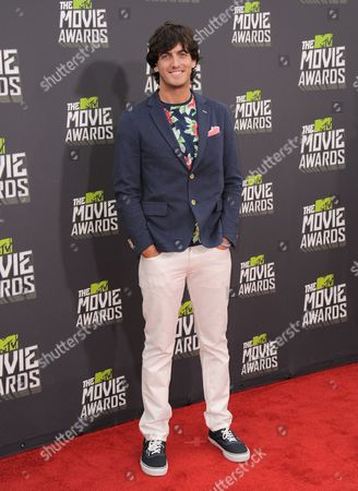 Producer Andrew Jenks arrives at the MTV Movie Awards in Sony Pictures Studio Lot in Culver City, Calif., on