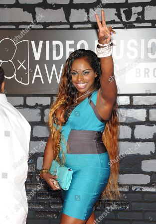Foxy Brown arrives at the MTV Video Music Awards, at the Barclays Center in the Brooklyn borough of New York