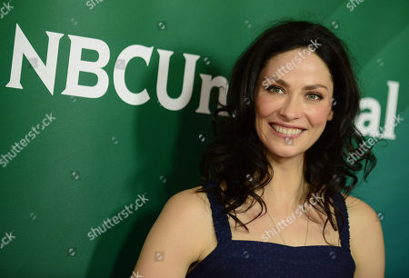 """Joanne Kelly of Syfy's """"Warehouse 13"""" arrives at the 2013 NBCUniversal Summer Press Day at The Langham Huntington Hotel and Spa on in Pasadena, Calif"""