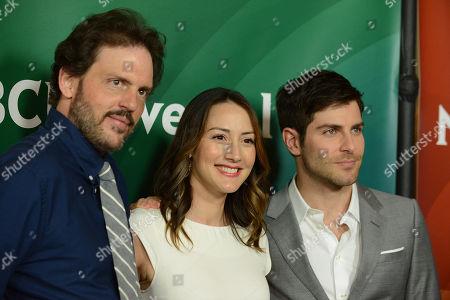 """From left, Silas Weir Mitchell, Bree Turner and David Guintoli of NBC's """"Grimm"""" arrive at the 2013 NBCUniversal Summer Press Day at The Langham Huntington Hotel and Spa on in Pasadena, Calif"""