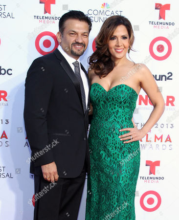 David Barrera and Maria Canals Barrera arrives at the NCLR ALMA Awards at the Pasadena Civic Auditorium, in Pasadena, Calif