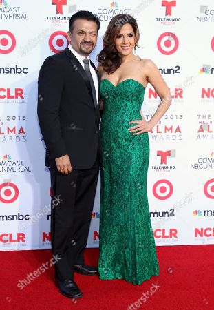 Maria Canals Barrera and David Barrera arrives at the NCLR ALMA Awards at the Pasadena Civic Auditorium, in Pasadena, Calif